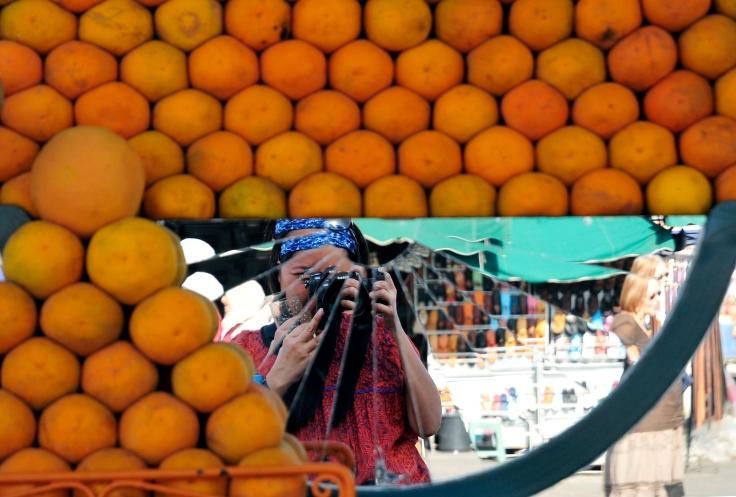 Fresh orange juice carts- Djemaa El Fna, Marrakech