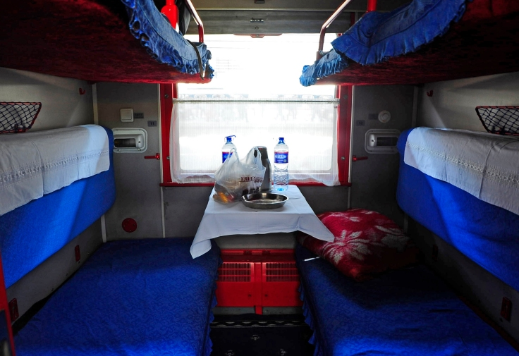 The four berth Kupe on the chinese train.