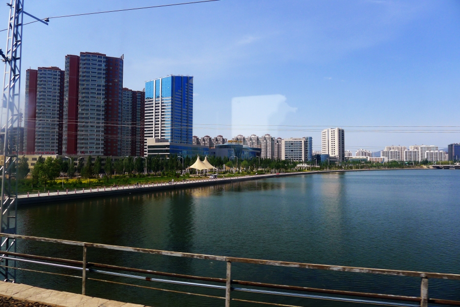 There are a lot of developments happening in towns along the Chinese railway.