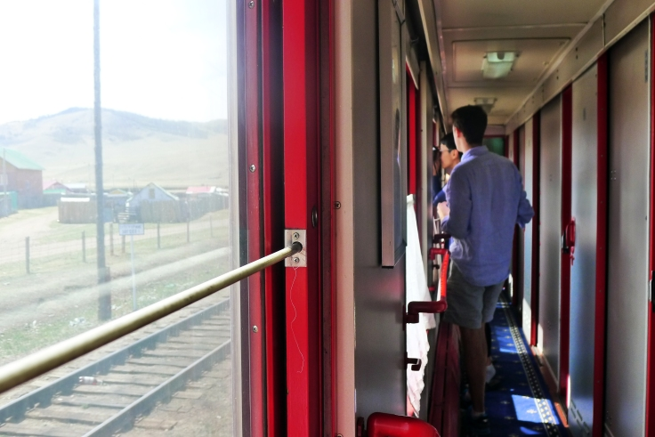 Most passengers in the Beijing to Ulan-bataar train were tourists who took turns to get a decent photo through the only window that can be opened.