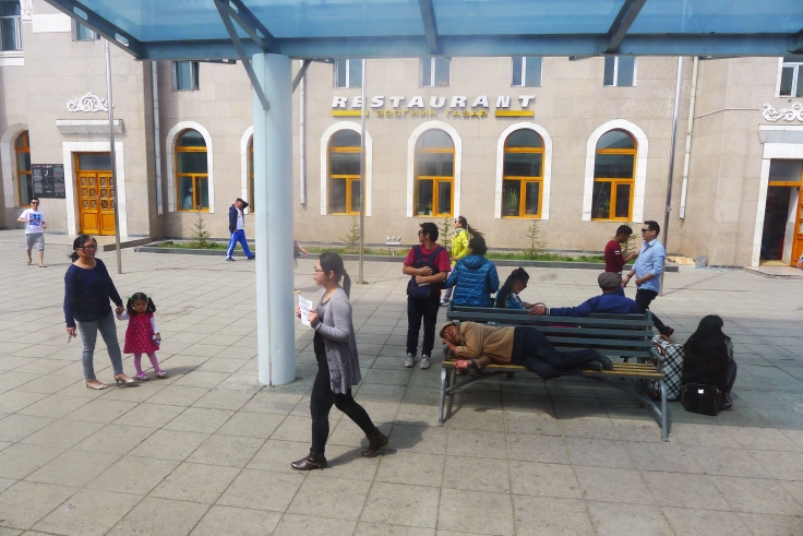Ulan-Bataar Train station.